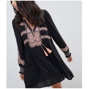 Free People wind willow tunic embroidered dress